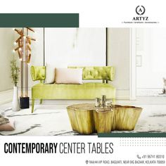 Get the perfect companion for your Sofa Set with our expansive collection of contemporary Center Tables.  Visit our flagship store today!  #designertables #luxuryfurniture #interiors #interiordesign #centertable #homedecor Living Room Green, Living Room Sets, Living Room Furniture, Chalet Design, Canapé Design, Design Ideas, Design Projects, Design Trends, Design Styles