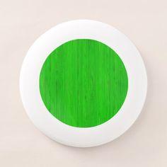 #wood - #Bright Green Bamboo Wood Grain Look Wham-O Frisbee