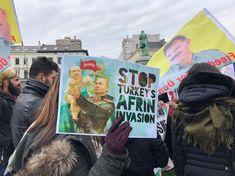 Week lang dagelijkse betogingen van Koerden in Brussel tegen geweld in Afrin | Binnenland | Nieuws | HLN
