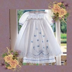 This CD will be used in Sew Victorians online heirloom sewing class teaching this Christening Gown.  You will use beautiful fabrics, wonderful french laces and tatting, Martha Pullen Books and Wendy Schoen Embroidery Designs.