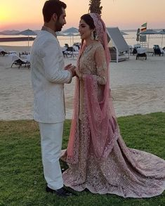 Pink bridals on our timeline - the prettiest Pakistani bridals of the season? Desi Wedding Dresses, Asian Wedding Dress, Wedding Attire, Walima Dress, Pakistan Wedding, Pakistani Wedding Dresses, Pakistani Suits, Indian Bridal, Bridal Mehndi