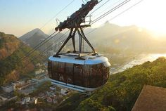 The Sugarloaf cable car in Rio de Janeiro, Brazil, one of the world's best known attractions, has received over 37 million visitors since its opening in 1912.