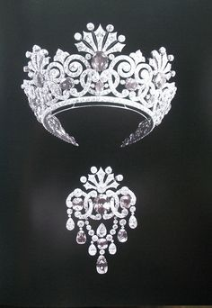 Russian imperial tiara and brooch