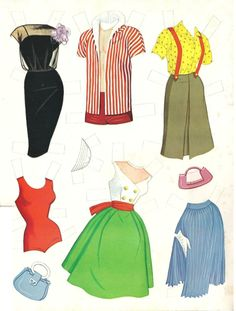 Barbie, Ken and Midge, 1960s Paper Dolls
