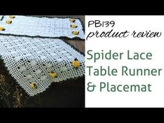 Spider Lace Table Set Review of Crochet Pattern PB139 - http://www.knittingstory.eu/spider-lace-table-set-review-of-crochet-pattern-pb139/