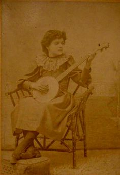 WHAT LITTLE IS KNOWN about the young tenor banjo-playing woman seen in this recently discovered cabinet card photograph is quite intriguing. Vintage Photographs, Vintage Photos, Hammered Dulcimer, Banjos, Gumbo, North West, Guitars, Seattle, Musicals
