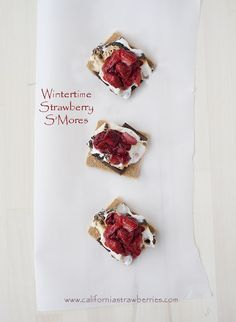 #BerryMerry Roasted Strawberry S'mores recipe via @SuperglueMom & more holiday favorites http://bit.ly/berryMry