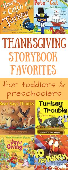 Thanksgiving Books for Toddlers & Preschoolers