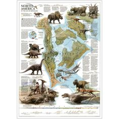 Late Cretaceous (Late Campanian) map of North America