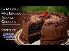 La Mejor y Mas Esponjosa Tarta de Chocolate Receta En Casa Contigo - YouTube