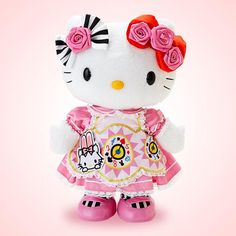 Hello Kitty 40th Anniversary Alice Kitty Plush Doll Pink SANRIO JAPAN