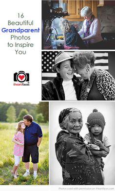 Inspiring Grandparent Photo Ideas via iHeartFaces.com