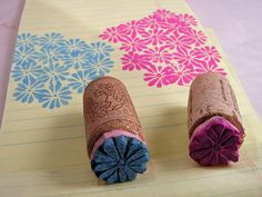 Stamp carving small flower (3) by AutumnHathaway, via Flickr