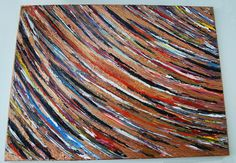 """""""Rings of Saturn""""   GREGORY HUGH LENG 18""""x14"""" GALLERY WRAP  MUSEUM ABSTRACT  #Abstract"""