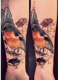 Bob Mosquito bird tattoo
