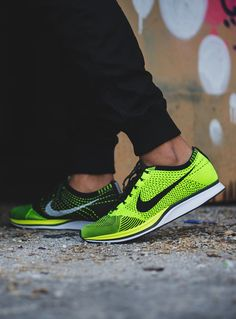 Sweetsoles – Nike Flyknit Racer - Volt #sneakers