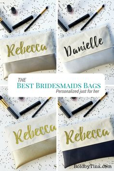 Perfect Bridesmaid Gifts. Personalize each bag with names or a monogram to give…
