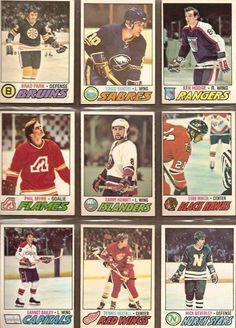 190-198 Brad Park, Craig Ramsay, Ken Hodge, Phil Myre, Garry Howatt, Stan Mikita, Garnet Bailey, Dennis Hextall, Nick Beverley