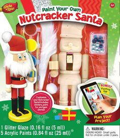 Nutcracker Santa - Wood Painting Kit