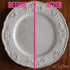 How to remove those little black scratch marks from your dishes. I need this!