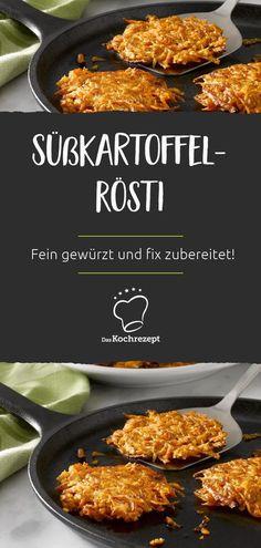 Rösti ist ein Schweizer Klassiker, doch hier kommt die Neuauflage: Süßkartoffel-Rösti! Die Süßkartoffel verleiht dem Gericht ein neues Aroma. Fein gewürzt und fix zubereitet –dieses Rezept gelingt garantiert jedem! #daskochrezept #sweetpotato #kumara #suesskartoffel #rezepte #schweizerkueche #roesti #kartoffelpuffer