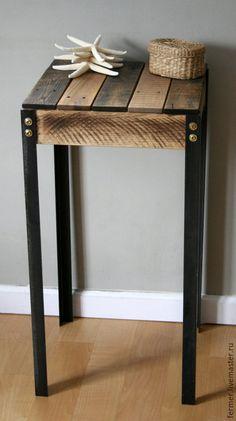 """Купить Столик """"Artel"""" - черный, лофт, высокий сто, барный стул, столик, кофейный столик"""