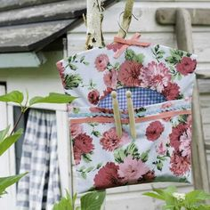 Make a floral clothes pin bag  tutorial