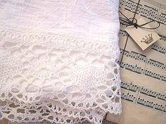 like this site Shabby Vintage Chic Flour Sack Tea Towel by