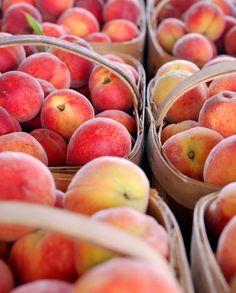 farmstand peach baskets...