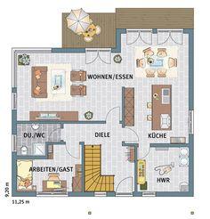 das erdgeschoss dieser stadtvilla als variante hausbau hamburg ideen rund ums haus. Black Bedroom Furniture Sets. Home Design Ideas