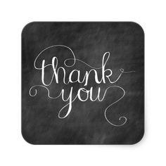 Chalkboard Thank You Calligraphy Sticker