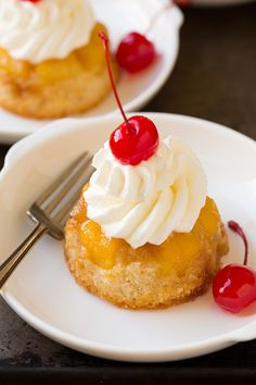 Pineapple Upside Down Cupcakes - Cooking Classy. Without the heinous maraschino cherries, of course.