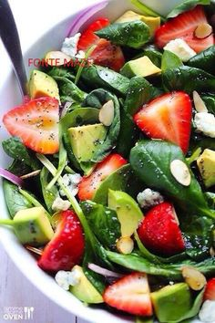 Avocado Strawberry Spinach Salad Delish