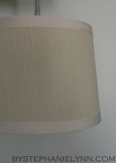 tutorial for covering a tapered drum lamp shade