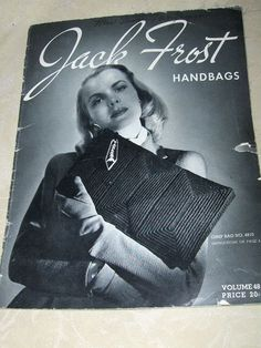 #2098 GIMP BAG VINTAGE CROCHET PATTERN