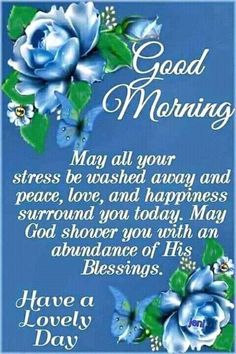 May all your stress be washed away - Good Morning