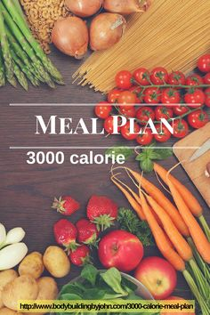3000 Calorie Meal Plan Doesn't matter if you are trying to gain muscle or lose weight this meal plan is great.