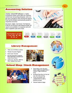 ERP Software for Schools to manage Student records, Fees Collection,  Transportation Mgt., Financial Accounting, Examination With CCE Grading System, Library Management, Birthday Reminders & More CONTACT ASHISH JOSHI 08800471454