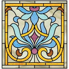 stained glass door insert patterns - Google Search