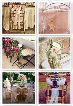 decoracion sillas bodas