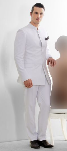 502758: White and Off White color family stitched Jodhpuri Suit .