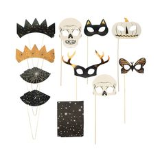 Take your Halloween party to a whole new level when you have the Nocturne Photo Booth Party Kit from Hyde and Eek! Boutique™. Easy to set up, this set completes your photo booth with a cool backdrop and fun accessories so you can let your guests take home some memorable photos to always remember your party. Set up a camera on a tripod so you don't have to stick around as the photographer and can join in on the spooky fun.