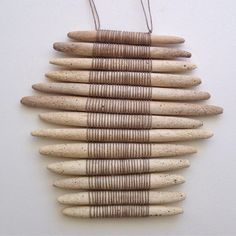 this one found a home in Japan #clay #linen #wallhanging #amydov #japan