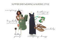 Summer Babywearing & Nursing Style #WBW2013 #babywearing