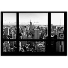 Trademark Fine Art View of New York City Canvas Art by Philippe Hugonnard, Size: 16 x 24, White