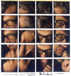 Wim Wenders | by Maurizio Galimberti  cool I have always likedcstuff liket this