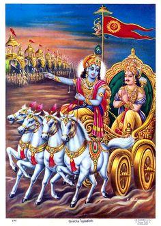 GEETA UPADESH | India 1970s Hindu poster by J.B. Khanna Señor Krishna, Lord Krishna Images, Radha Krishna Pictures, Krishna Bhagwan, Ganesh Images, Lord Krishna Wallpapers, Shiva Wallpaper, Shiva Statue, Bhagavad Gita