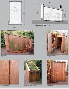 Pool Shed, Backyard Sheds, Backyard Patio Designs, Garden Bike Storage, Bicycle Storage, Garage Velo, Carport Sheds, Townhouse Exterior, Bike Storage Solutions