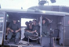"Army Nurses on a UH-1 Kiowa or 'Huey', more commonly known by Infantry Soldier's..{11B - OOOHAH!!}..as a ""Dust-Off"", That Nickname Is VERY Self- Explainitory!! Y'all, A Very Important Note To Add Here Is That ALL Of The Doctor's, Nurse's and Field Medics Were A Vital Part Of ""The Life-Savers In The Flesh"" Team, DURING ANY WAR, Especially The Vietnam Conflict!! (This Picture was taken in 1968)...p.s. On A Serious Note, I Owe Them Much Gratitude And Respect, Becuase They Saved My Uncle's…"