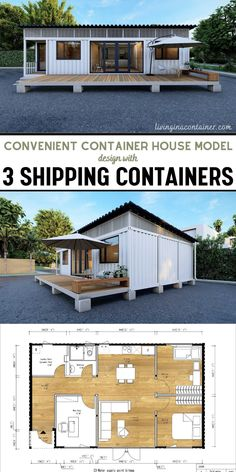 Shipping Container Home Designs, Container House Design, Small House Design, Shipping Containers, Cargo Container Homes, Barn House Plans, House Layout Plans, Cabin Homes, Shed Homes
